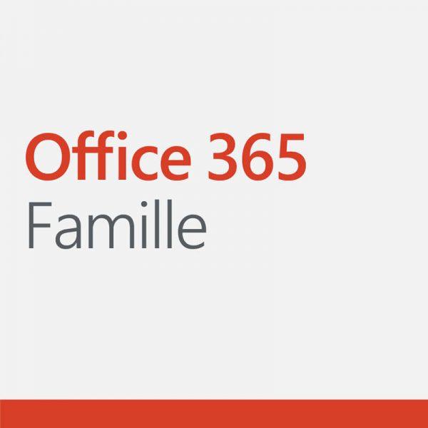 Logo de la suite de logiciels Office 365 pour la famille par Microsoft