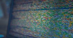 Code de programmation de site web réalisé sur un ordinateur